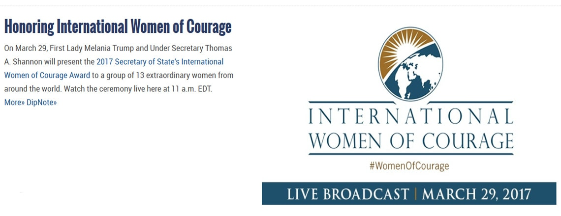The Secretary of State's International Women of Courage Award