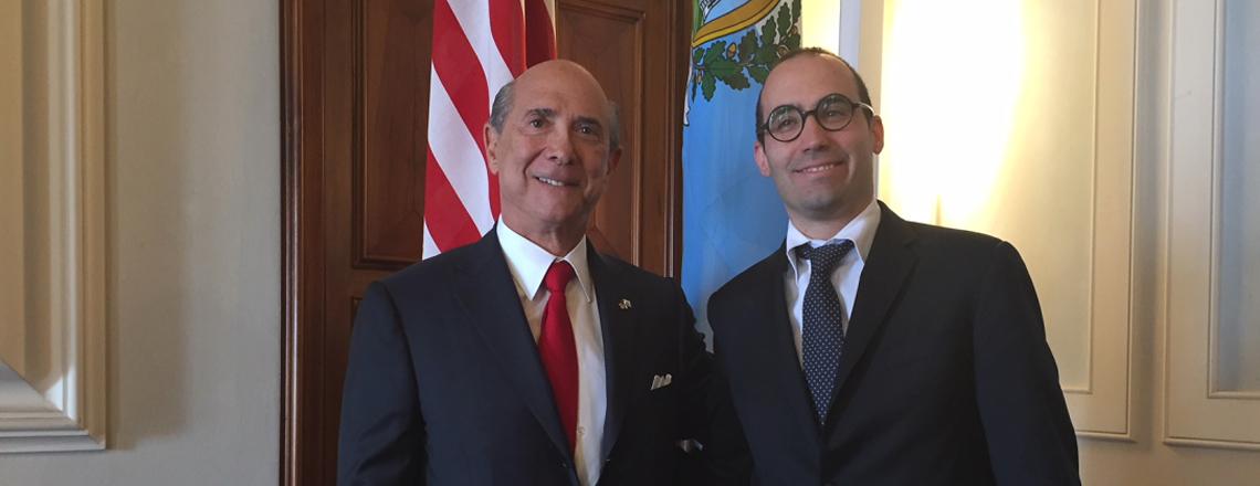 U.S. Ambassador Eisenberg Met San Marino Secretary of State for Foreign Affairs